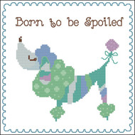 Born to be Spoiled (Poodle) Blue