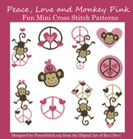 Peace Monkey Love Pink