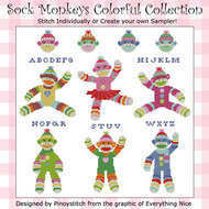 Sock Monkeys Colorful