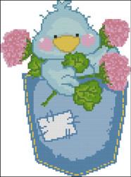 Tiny Tweets Pocket 001 Pink Flowers