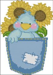 Tiny Tweets Pocket 003 Sunflowers