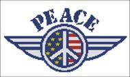 Patriotic Peace Sign