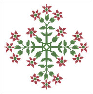 Floral Ornamental #0102 Red Star Blooms
