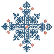Floral Ornamental #026 Blue Gothic
