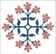 Floral Ornamental #094 Orange Blooms