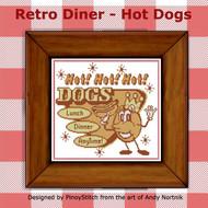 Retro Diner Food - Hot Dog
