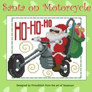 Santa on Motorcycle Bike