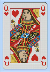 Vintage Queen of Hearts Playing Card