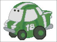 Chubby Race Cars 007 Green Go-Go
