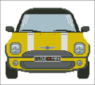 Mini Sports Car Yellow