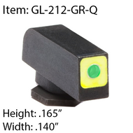 AMERIGLO PROGLO LUMIGREEN WITH SQUARE FRONT-GL-212-GR-Q for Glocks GEN 1-4