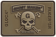 3D  CROSS CONNECTOR SKULL PATCH OD GREEN