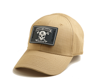 GLOCK-GHOST KAKI HAT WITH BLACK PATCH