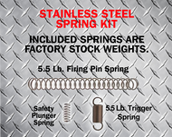 TACTICAL SPRING KIT- STOCK STAINLESS GEN 1-5