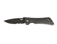Spider Monkey-Drop Point Serrated-Black PVD CF