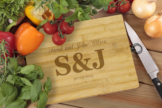 Personalised Chopping Board Standard - Couples - Large Initials