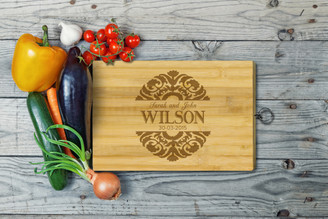 Personalised Chopping Board Standard - Couples - Floral