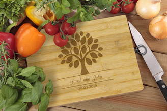 Personalised Chopping Board Standard - Couples - Tree
