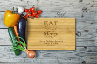 Personalised Chopping Board Standard - Anniversary - Eat and Drink