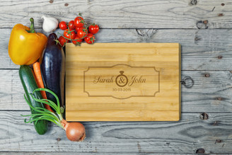 Personalised Chopping Board Standard - Couples - Plaque