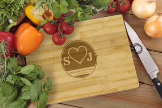 Personalised Chopping Board Standard - Couples - Heart