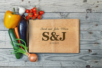 Personalised Chopping Board Premium - Couples - Large Initials