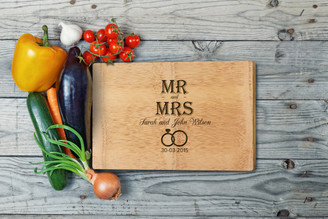 Personalised Chopping Board Premium - Couples - Mr & Mrs