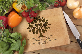 Personalised Chopping Board Premium - Couples - Tree