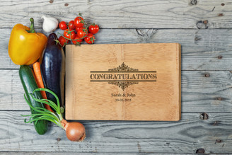 Personalised Chopping Board Premium - Congratulations