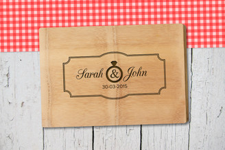 Personalised Chopping Board Premium - Couples - Plaque