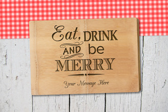 Personalised Chopping Board Premium - Eat and Drink - Your message