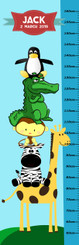 Growth Chart - Cartoon Animals
