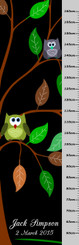 Growth Chart - Owls in tree