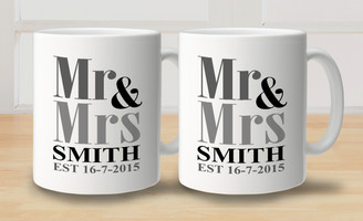 Mug - Set of 2 - Mr & Mrs
