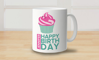Mug - Happy Birthday - Cupcake