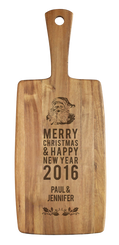 Personalised Cheese Board - Merry Christmas Santa
