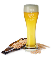 Personalised Beer Glass - Tie the Knot.