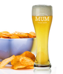 Personalised Beer Glass - Mum.