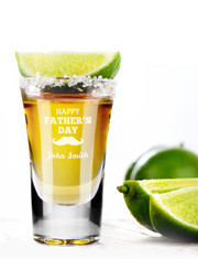 Personalised Shot Glass - Happy Father's Day.