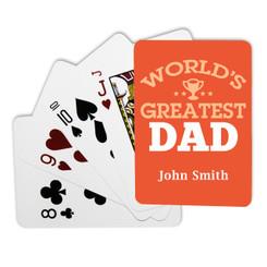 Personalised Playing Cards - World's Greatest Dad