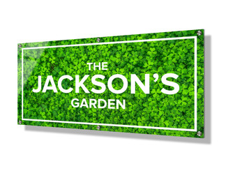 Business sign 30x60cm - Green Clover