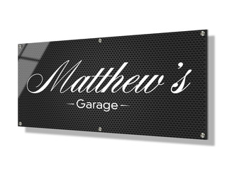 Business sign 30x60cm - Steel mesh