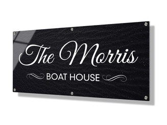 Business sign 30x60cm - Black sand