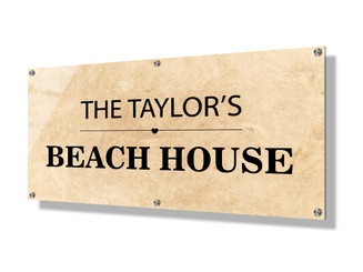 Business sign 30x60cm - Parchment