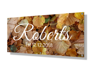 Business sign 30x60cm - Autumn leaves