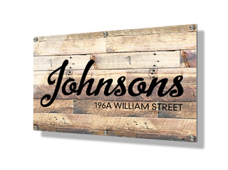 Business sign 50x75cm - Rustic wood
