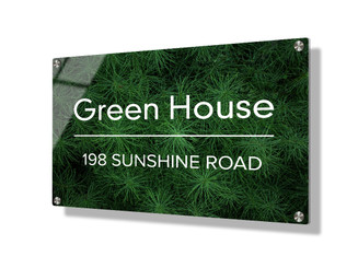 Business sign 20x30cm - Green foliage