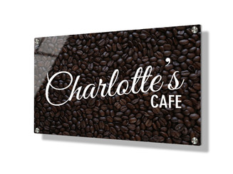 Business sign 20x30cm - Coffee beans