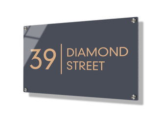 Business sign 20x30cm - Clean lines