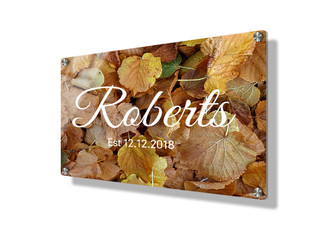Business  sign 15x20cm - Autumn leaves